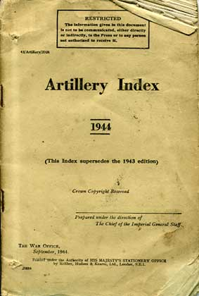 Artillery related Manuals