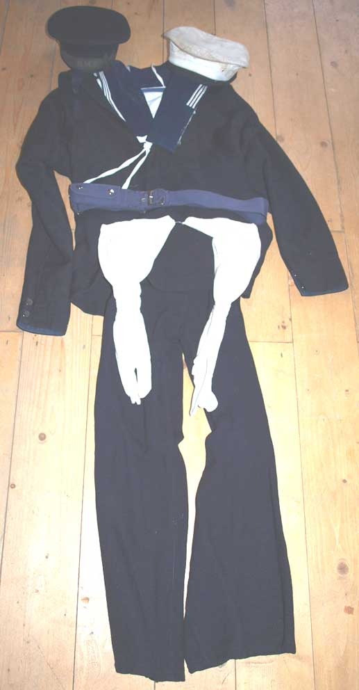 Genuine Royal Navy Ratings uniform, WW2 pattern, almost certainly ...