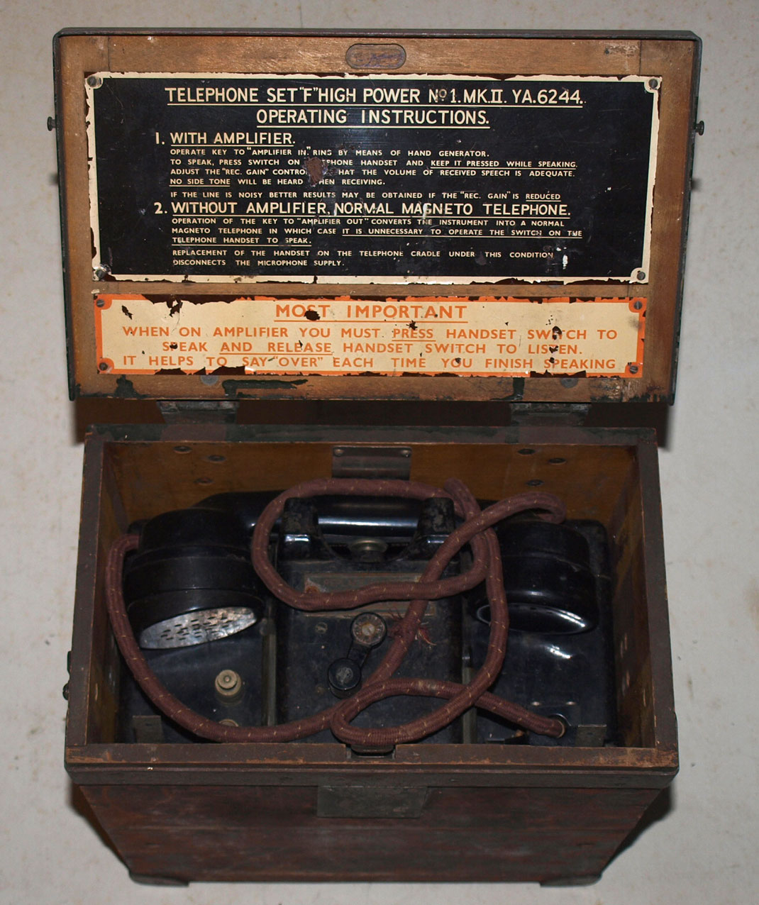 Field Telephone F High Power-SCARCE SET!