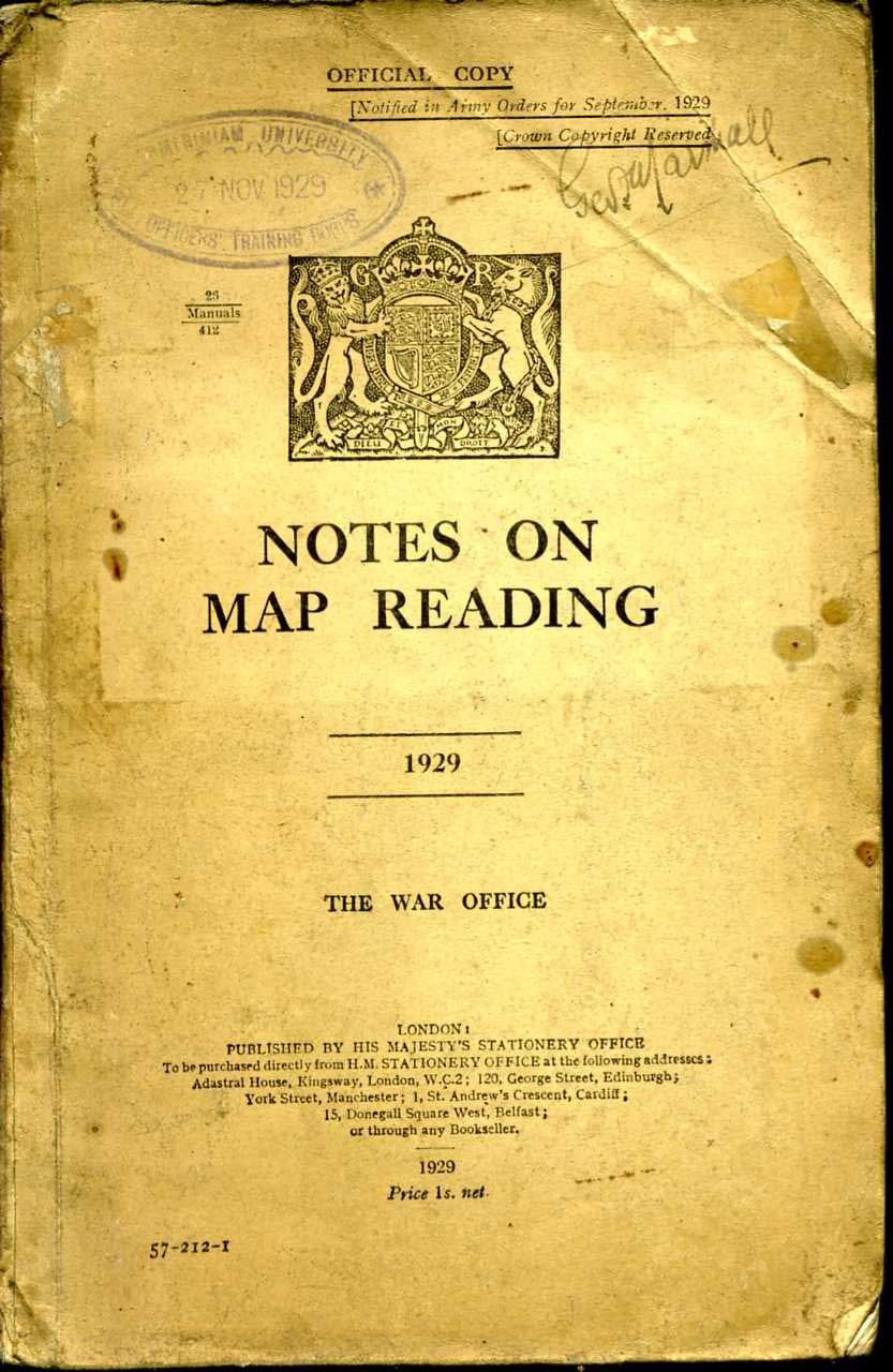 Notes on Map Reading 1929