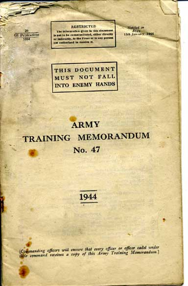 Army Training memorandum No47 1944