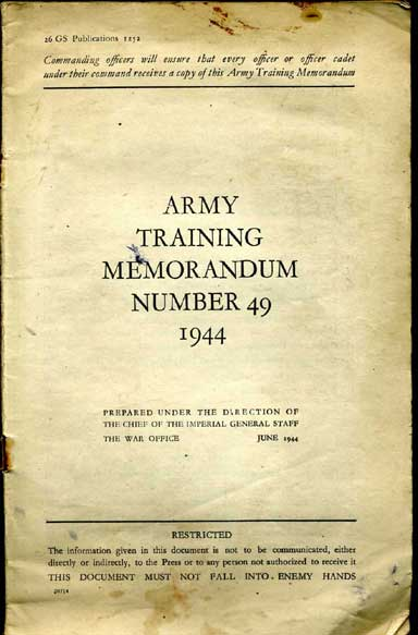 Army Training memorandum No49 1944
