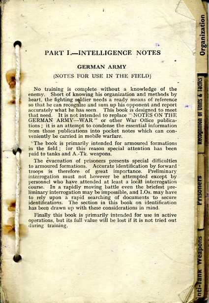 German Army-Part 1 &2  Intelligence notes October 1942