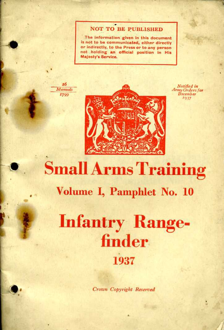 Small Arms Training No10; Infantry Rangefinder 1937