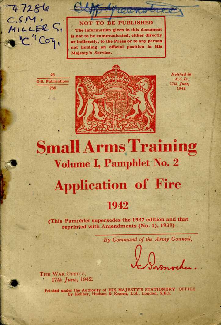 Small Arms Training No2- Application of fire 1942