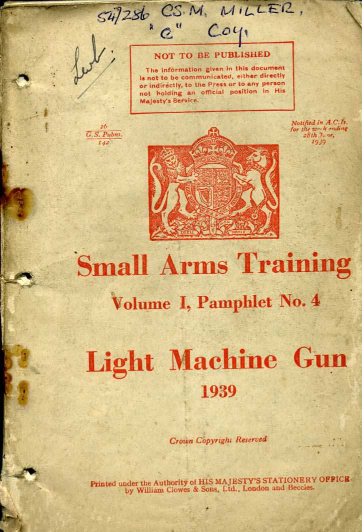 Small Arms Training No4- Light Machine Gun 1939