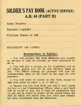 AB64 Part 2 Soldiers Paybook