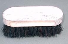 Boot Polish on brush
