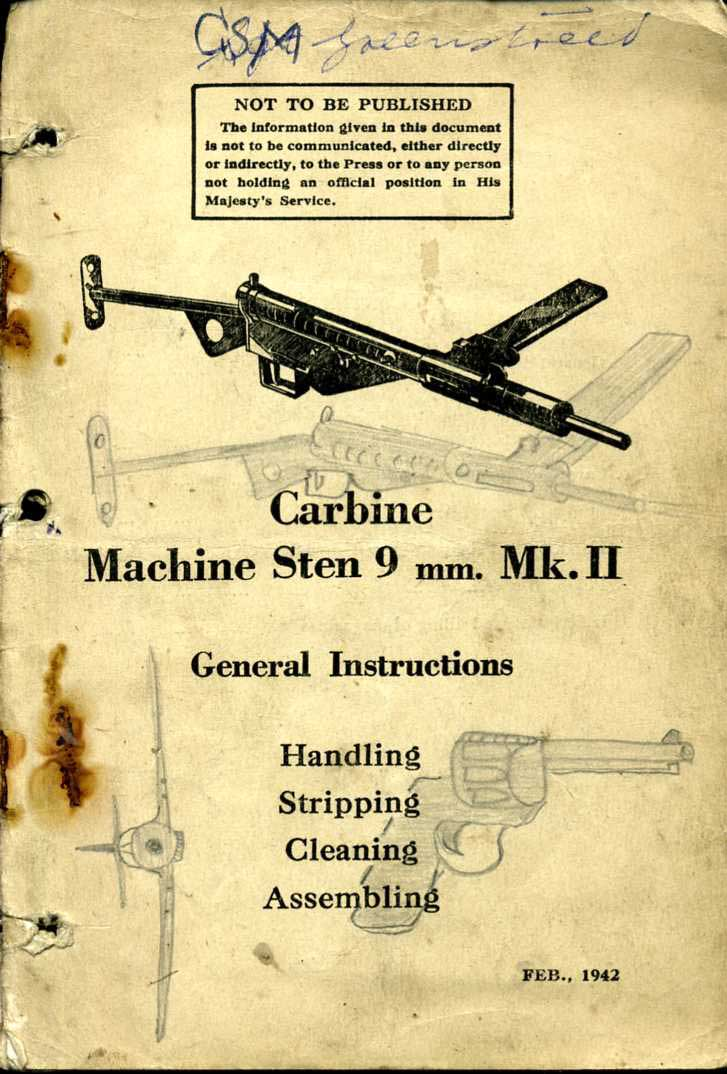 Carbine Machine Sten 9mm MkII 1942