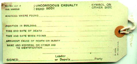 ARP Casualty Lable