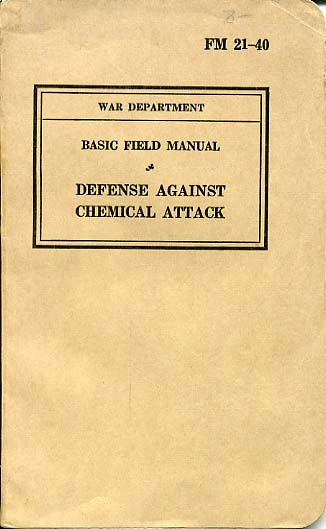 USA War Dept Manual-Defense against Chemical attack