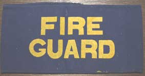 WW2 Genuine Fire Guard Armband