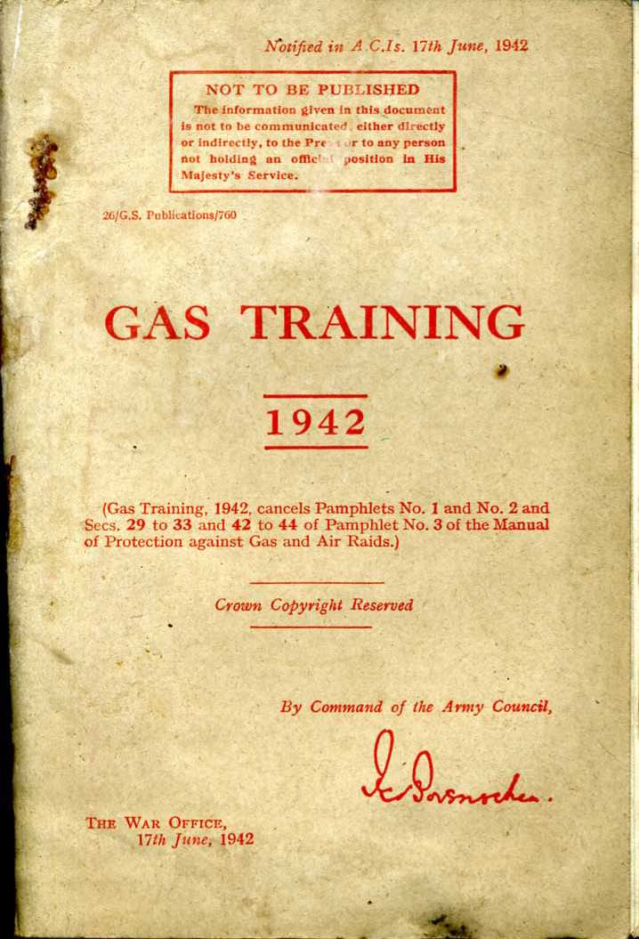 Gas Training Manual 1942