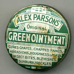 Alex Parsons Green Ointment