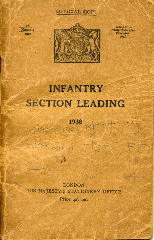 Infantry Section Leading 1938