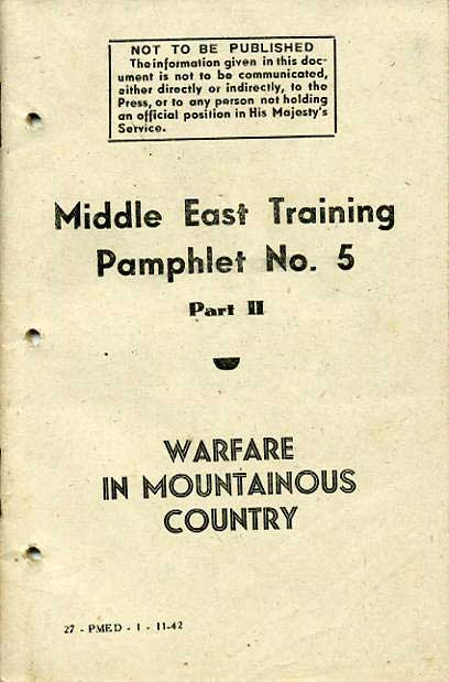 Middle East Training Pamphlet No5 Part II £9.50