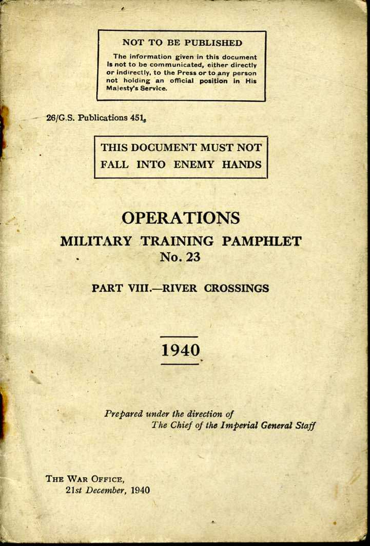 MTP No23 Operations Part VIII 1940 River Crossings