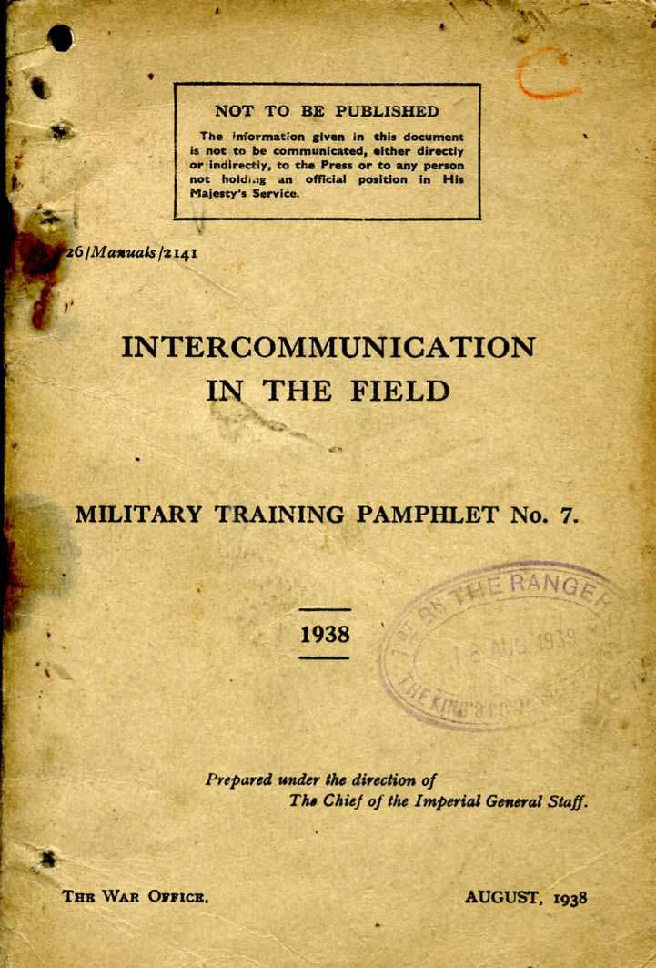 MTP No7 1938 Intercommunication in the Field