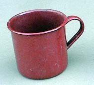 mug, enamel, brown