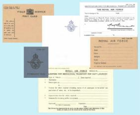 Personal Documents for RAF & WAAF personnel