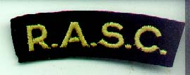 Genuine Royal Army Service Corps Shoulder Title