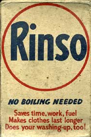 Rinso Washing Powder- WW2 'Save for Salvage' box