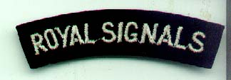 Royal Signals Shoulder Title-Genuine
