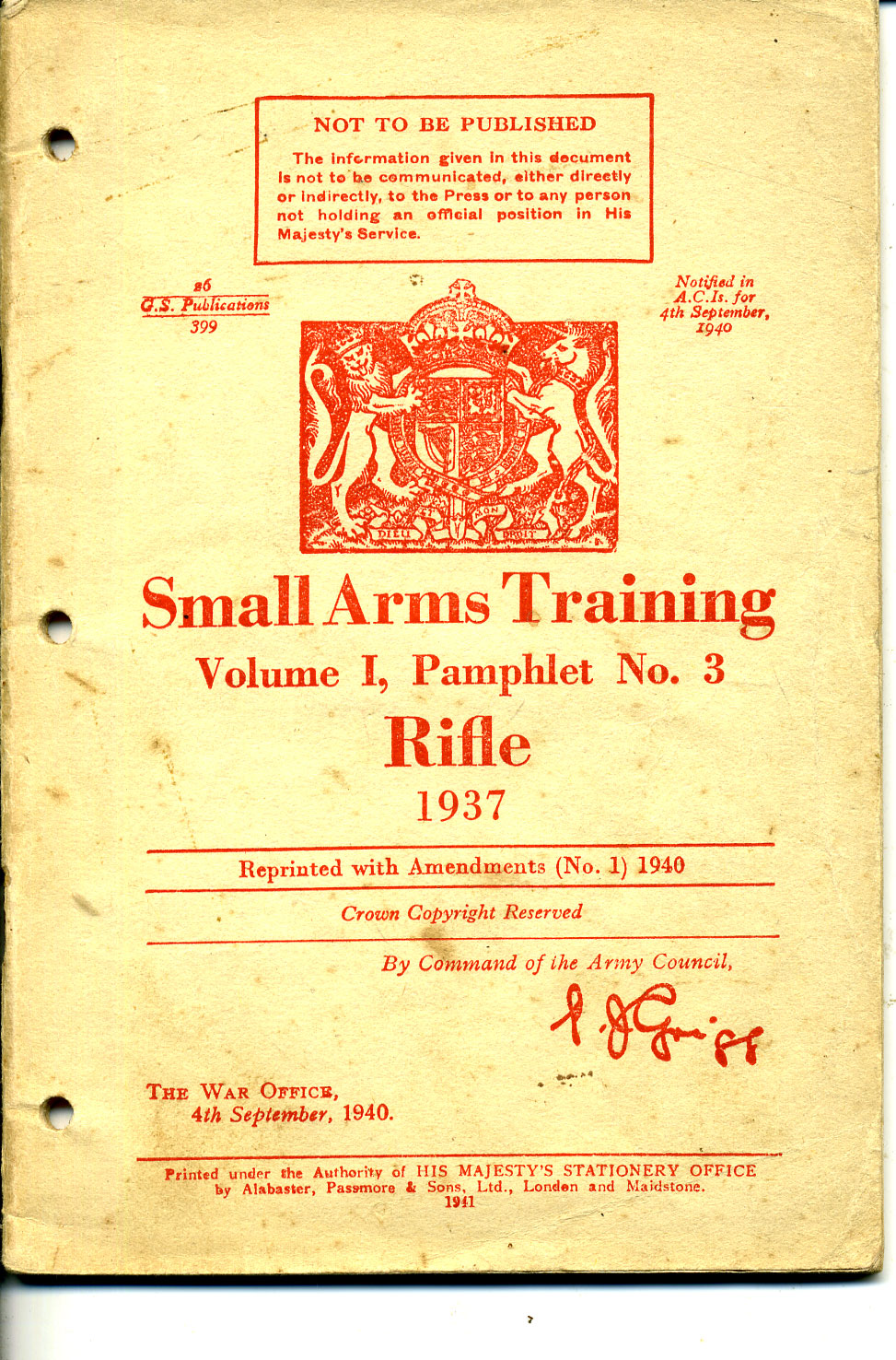 Small Arms Training No3- Rifle