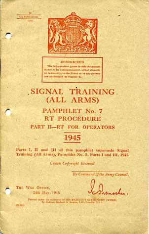 Signals Training (All Arms) No7 Part II 1945 £15