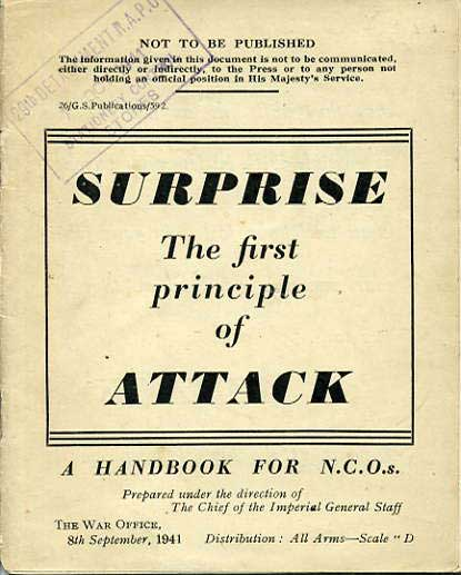 Surprise The First Principle of Attack £7.50