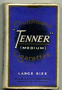 Churchmans 'Tenner' empty Cigarette packet