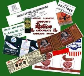 Ration Tin Labels