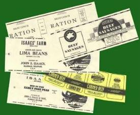 US Ration tin labels