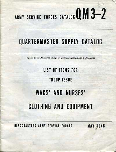 Quatermaster supply catalog for WACS & Nurses 1946