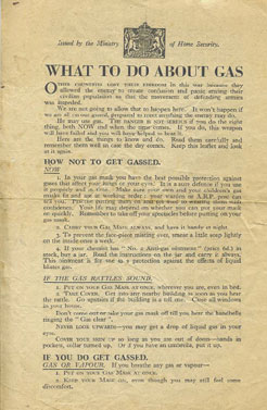 What to do about Gas; MoHS leaflet-genuine WW2