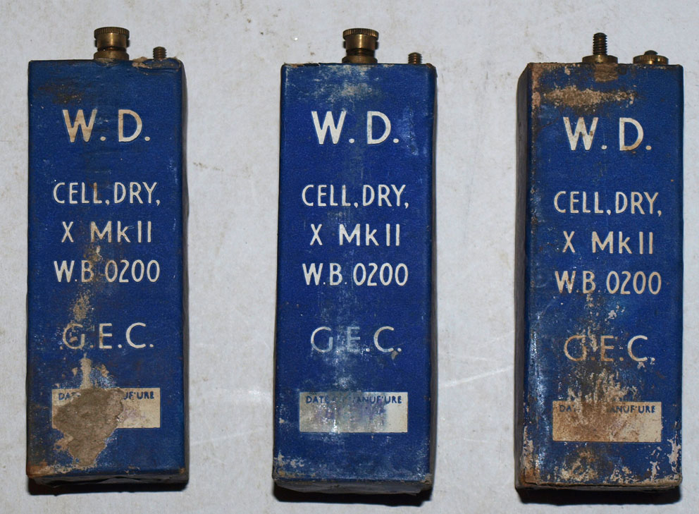 1944 X Cell Batteries for field telephones-VERY RARE