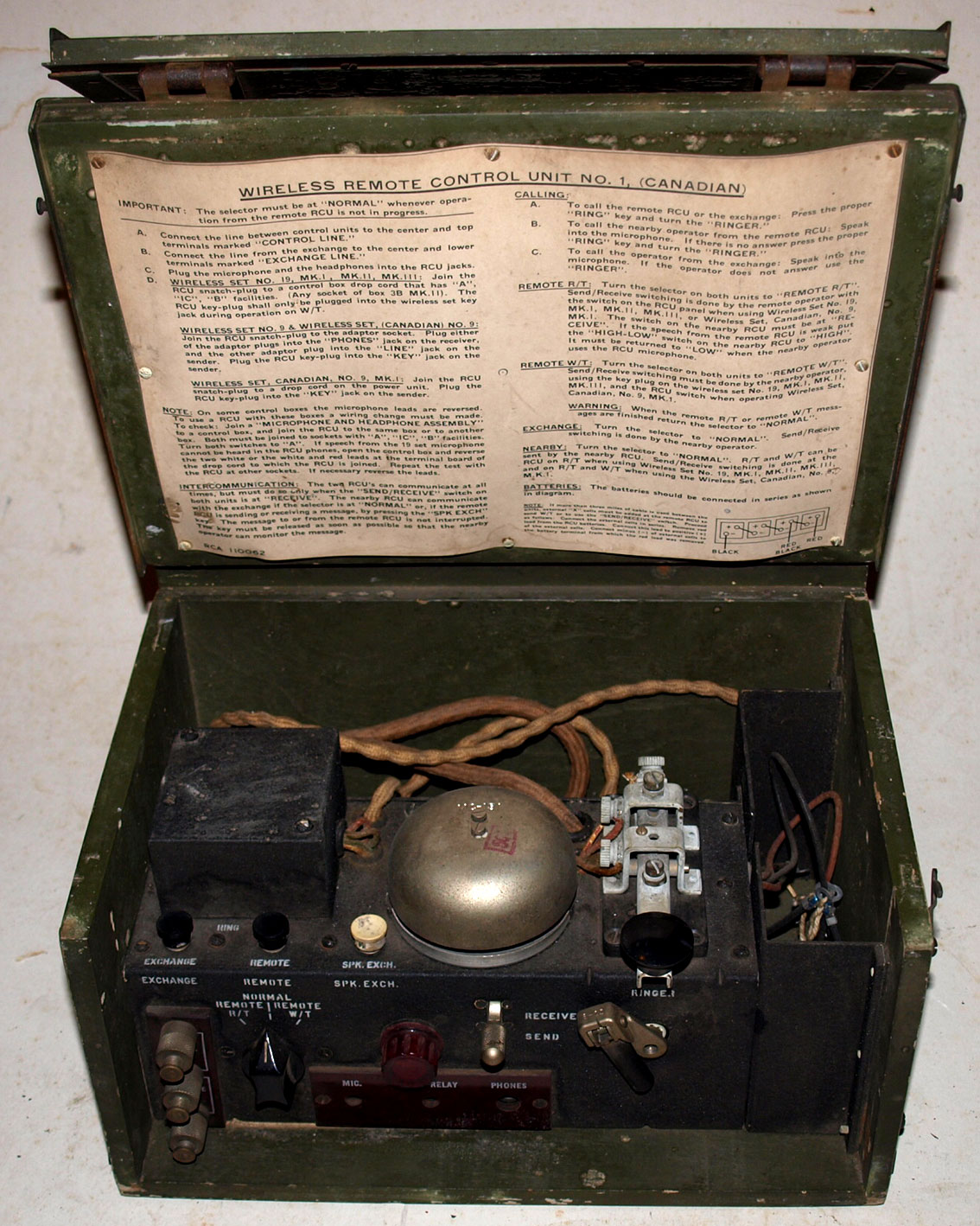 WS19 Remote Control unit, Canadian Pattern