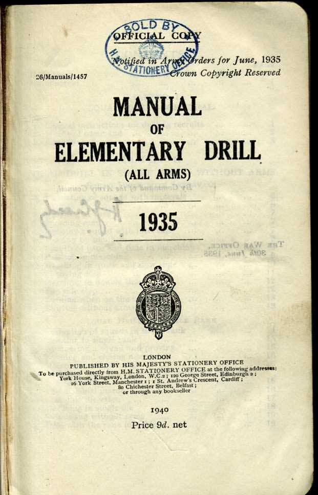 Manual of Elementary Drill 1935-1940 edition