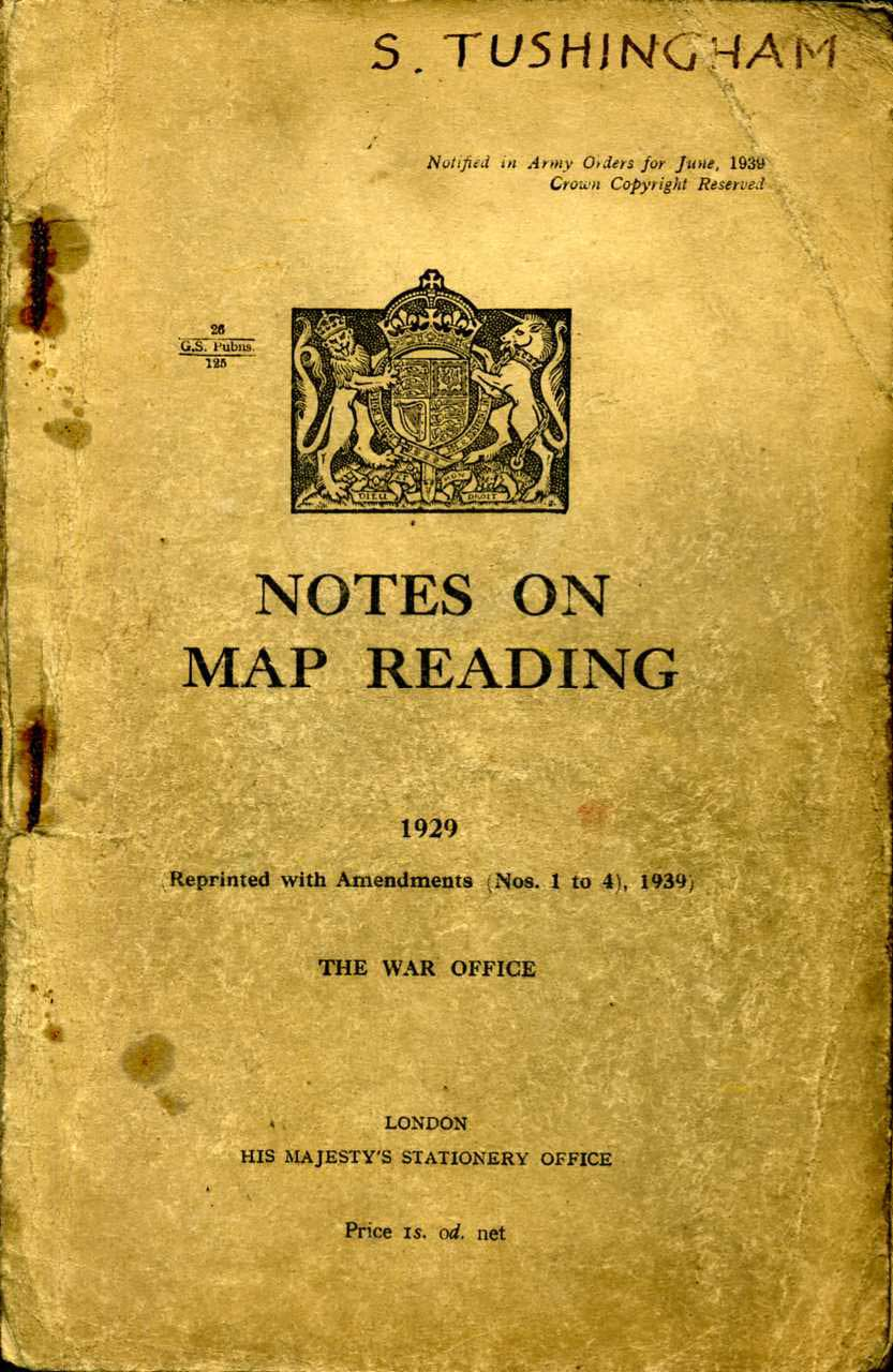 Notes on Map Reading 1929 Printed 1939