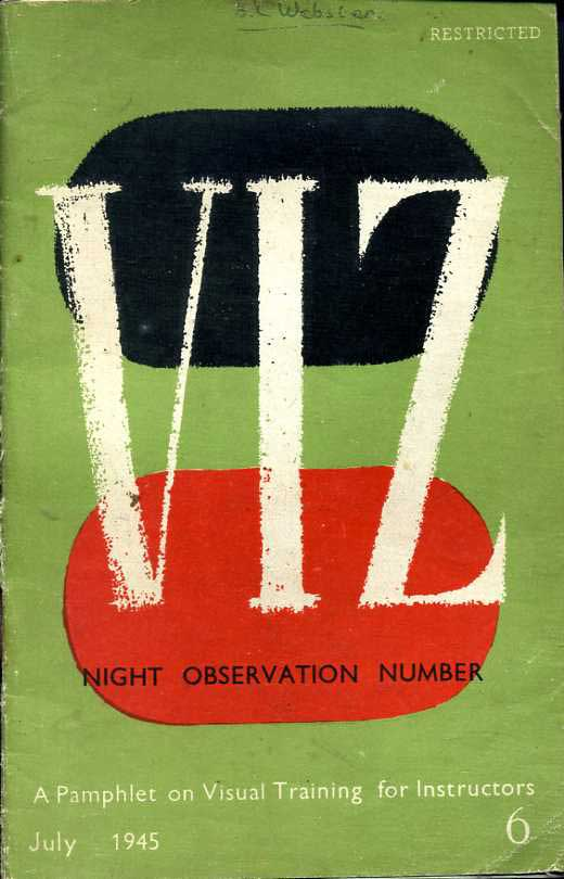VIZ- Night Observation Number-A Pamphlet on visual training for instructors 1945