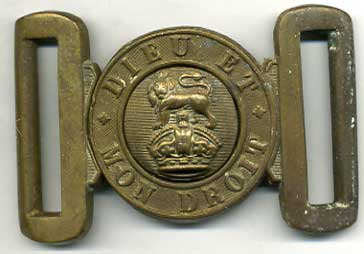 Buckle, Brass, 1888 pattern Type, Kings Crown
