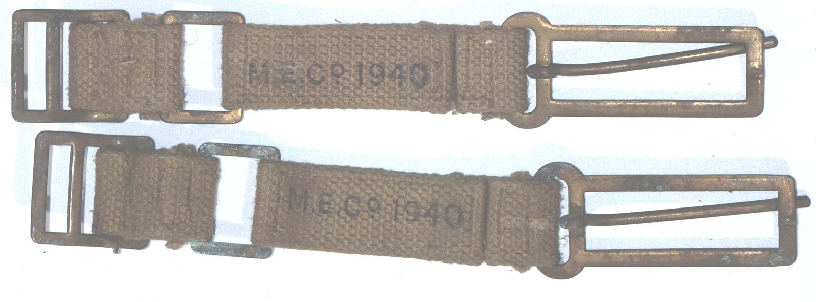 37 Pattern Brace (Strap) Attachments-matching pair dated 1940