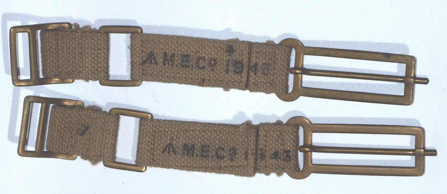37 Pattern Brace (Strap) Attachments-matching pair dated 1943