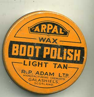 ARPAL Tan shoe polish-WW2
