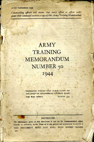 Army Training memorandum No 50 1944