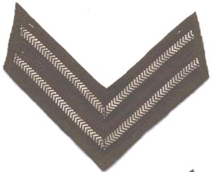 Corporals Stripes- Rank Badge