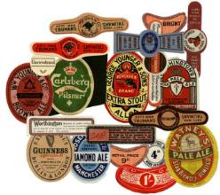 Labels for alcoholic drinks bottles-reproduction