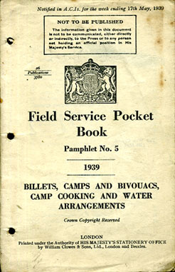 Field Service Pocket Book Volume No5 1939