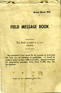 Field Message Book 1943