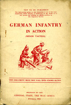 Rare copy of German Infantry in Action (minor tactics) 1941